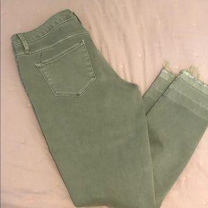 Green Khaki Mid-Rise Jegging